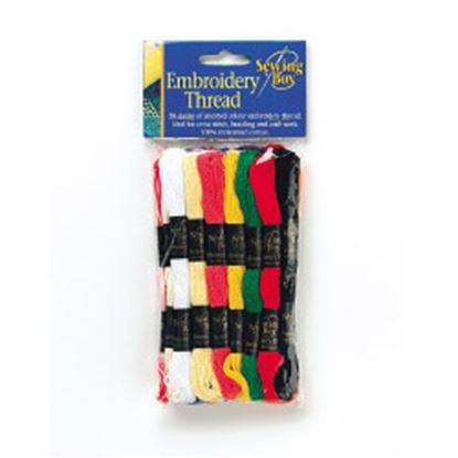 Picture of Sewing Box Embroidery Thread 20 Colours