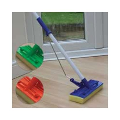 Picture of JVL Flat Sponge Mop And Handle Assorted Colours