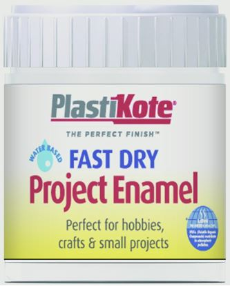 Picture of Plasti-kote Fast Dry Enamel Brush On 59ml Bottle Flat White