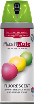 Picture of Plasti-kote Fluorescent Spray Paint Green - 400ml