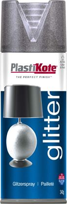 Picture of Plasti-kote Glitter Spray Paint 400ml Silver