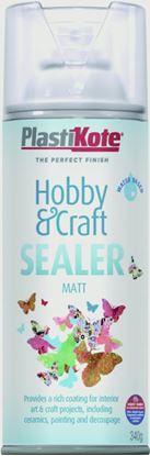 Picture of Plasti-kote Hobby  Craft Aerosol Sealer 400ml - Krystal Clear - Matt