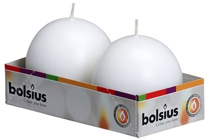 Picture of Bolsius Ball Candles Pack 2 Ivory
