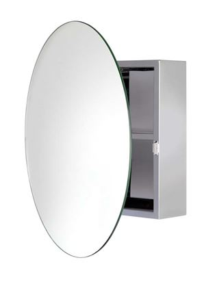 Picture of Anton Severn Stainless Steel Circular Mirror Cabinet
