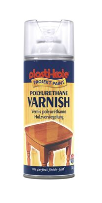 Picture of Plasti-kote Polyurethane Varnish 400ml Clear Satin