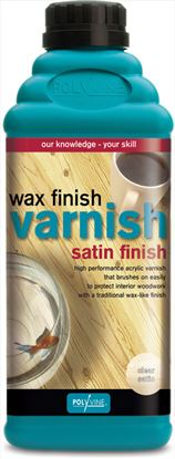Picture of Polyvine Wax Finish Varnish Satin Finish 1L Clear