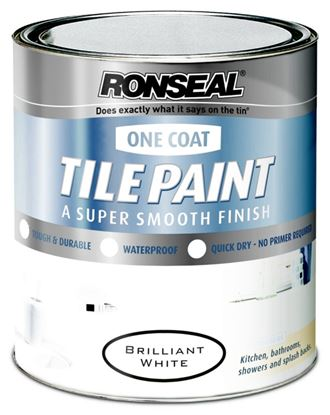 Picture of Ronseal One Coat Tile Paint 750ml Magnolia
