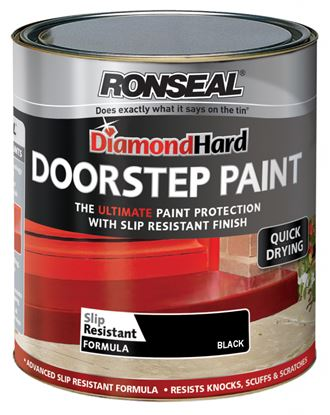 Picture of Ronseal Diamond Hard Door Step Paint 250ml Black