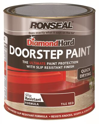 Picture of Ronseal Diamond Hard Door Step Paint 750ml Red