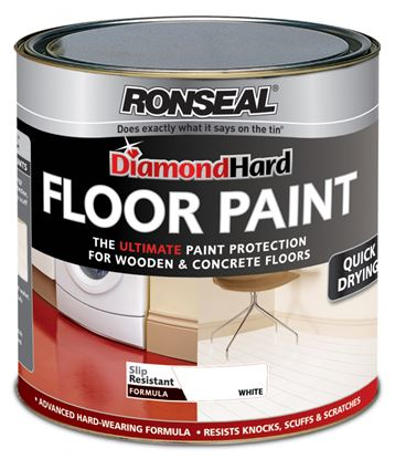 Picture of Ronseal Diamond Hard Floor Paint 2.5L White