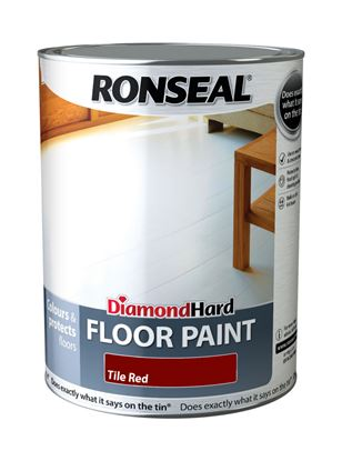 Picture of Ronseal Diamond Hard Floor Paint 5L Red