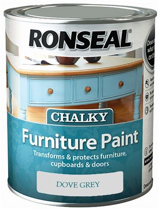 Picture of Ronseal Chalky Furniture Paint 750ml Dove Grey