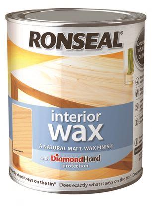 Picture of Ronseal Interior Wax Matt 750ml Almond Wood