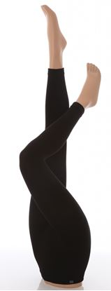 Picture of David James Heat Holder Ladies Thermal Leggings Black LargeExtra Large