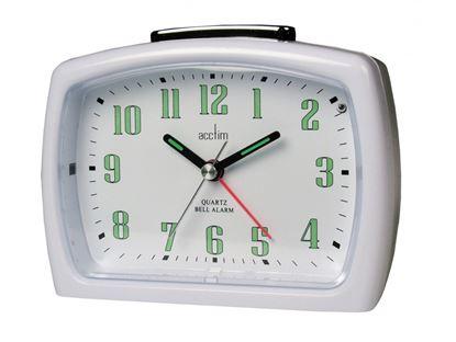 Picture of Acctim Isla Bell Alarm Clock White
