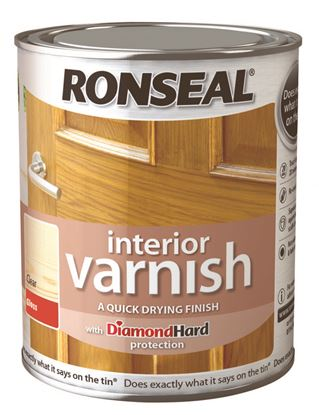 Picture of Ronseal Interior Varnish Gloss 250ml Clear