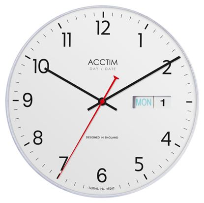 Picture of Acctim Datetime Wall Clock 28cm White