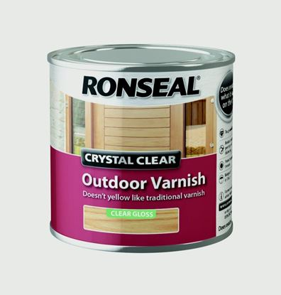 Picture of Ronseal Crystal Clear Outdoor Varnish 250ml Matt