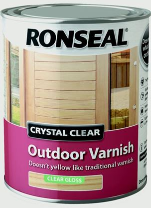 Picture of Ronseal Crystal Clear Outdoor Varnish 750ml Matt