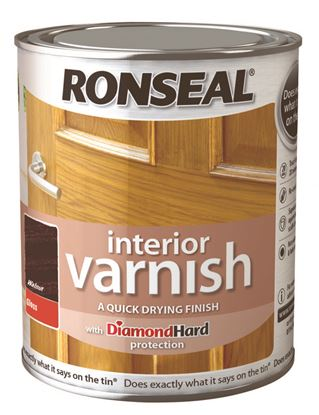 Picture of Ronseal Interior Varnish Gloss 750ml Walnut