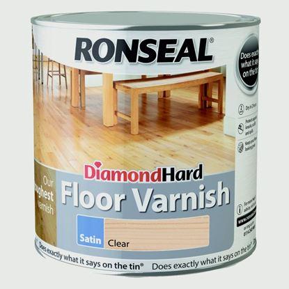 Picture of Ronseal Diamond Hard Clear Varnish 2.5L Varnish Satin