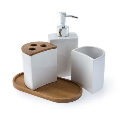 Picture of Blue Canyon Aria Bath Accessory Set White 4 Piece
