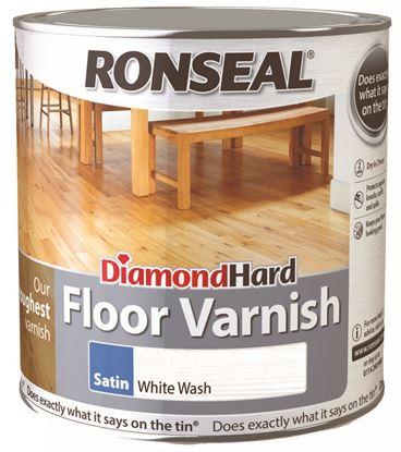Picture of Ronseal Diamond Hard Floor Varnish 2.5L Satin Whitewash