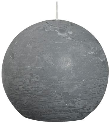 Picture of Bolsius Ball Candle Light Grey