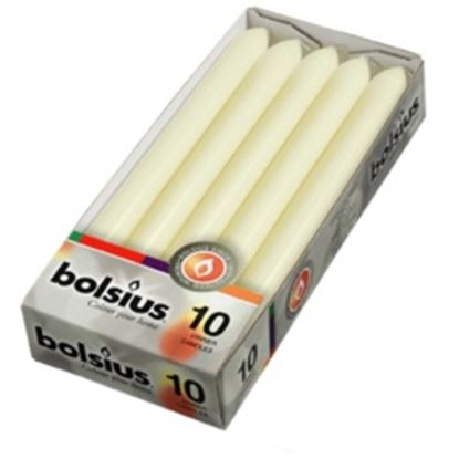 Picture of Bolsius Dinner Candles Box 10 Ivory