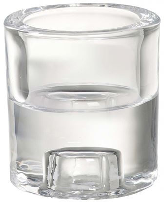 Picture of Bolsius Glass 2 In 1 Round Holder Clear
