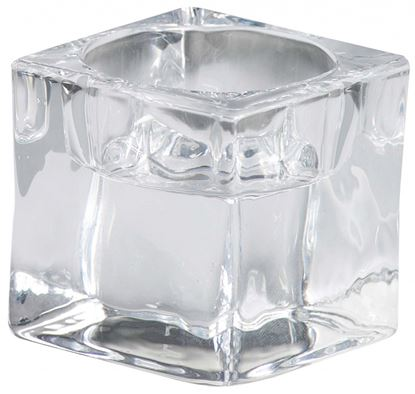 Picture of Bolsius Glass Square Tealight Holder Clear