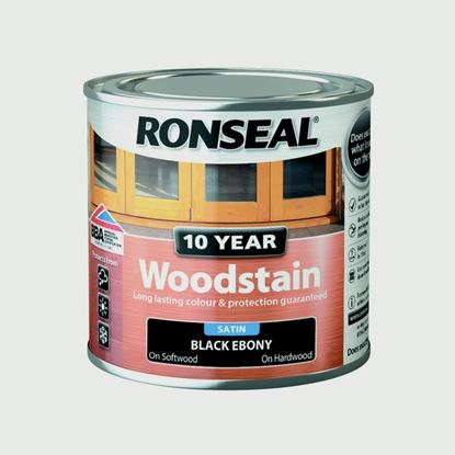Picture of Ronseal 10 Year Woodstain Satin 250ml Ebony
