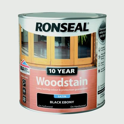 Picture of Ronseal 10 Year Woodstain Satin 750ml Ebony