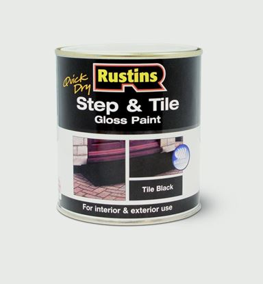 Picture of Rustins Quick Drying Step Tile Black 1L