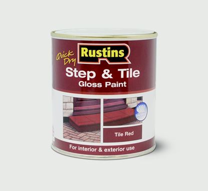 Picture of Rustins Quick Drying Step Tile Red 1L