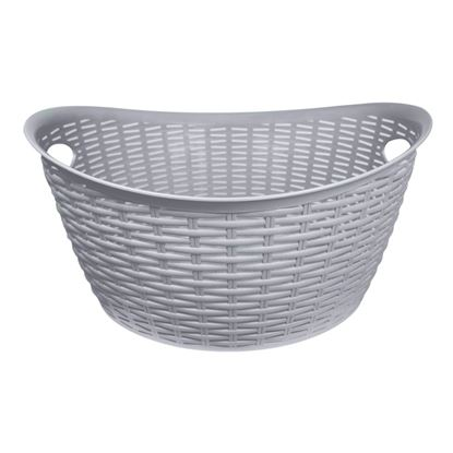 Picture of Anika Home 27L Rattan Washing Basket Grey