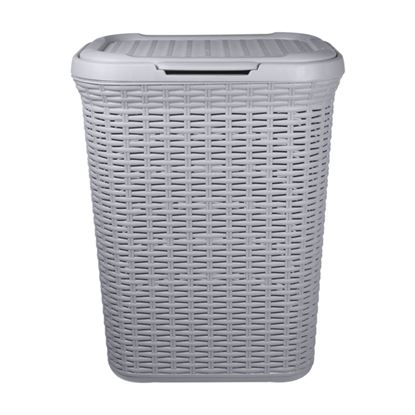 Picture of Anika Home 50L Rattan Laundry Basket Grey