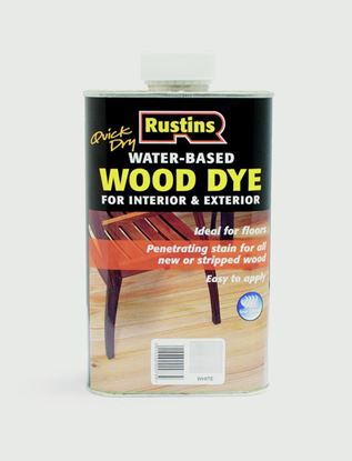 Picture of Rustins Wood Dye White 250ml