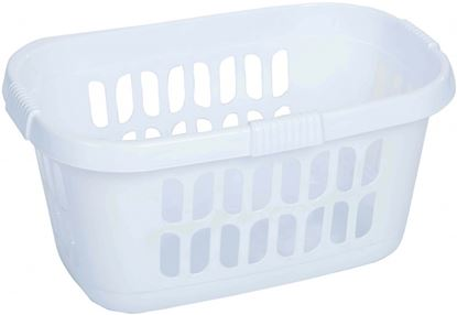 Picture of Casa Hipster Laundry Basket Ice White