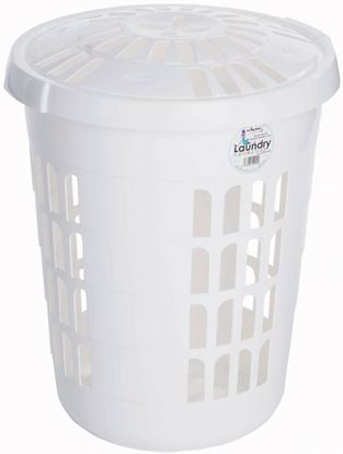 Picture of Casa Round Laundry Her Ice White