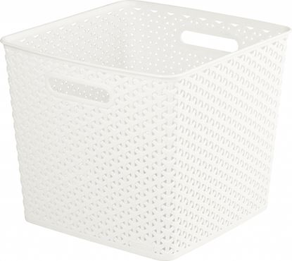 Picture of Curver Nestable Rattan Basket White 25L