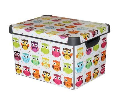 Picture of Curver Large Stockholm Deco Storage Box 22L Owls