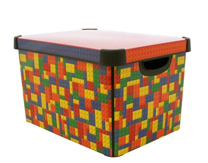 Picture of Curver Large Stockholme Deco Storge Box 22L Brights