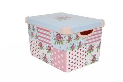 Picture of Curver Large Stockholm Deco Storage Box 22L Floral Patchwork