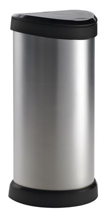 Picture of Curver Deco Touch Bin 40L Steel Effect