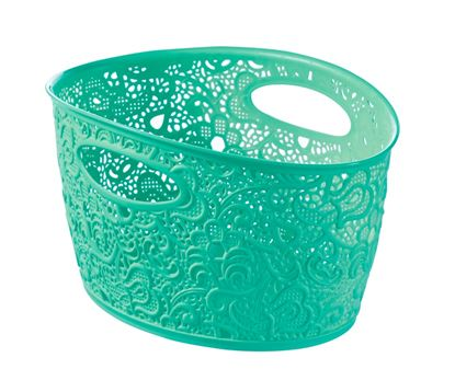 Picture of Curver Victoria Lace Storage Basket Bering Sea 7L