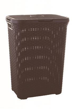 Picture of Curver Rattan Laundry Her 60L Dark Brown