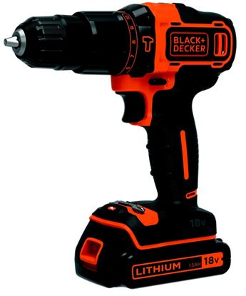 Picture of Black  Decker Hammer Drill With Kitbox 18v