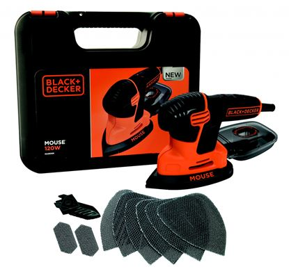 Picture of Black  Decker Compact Mouse With Kit Box  9 Accessories