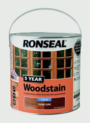 Picture of Ronseal 5 Year Woodstain 2.5L Dark Oak
